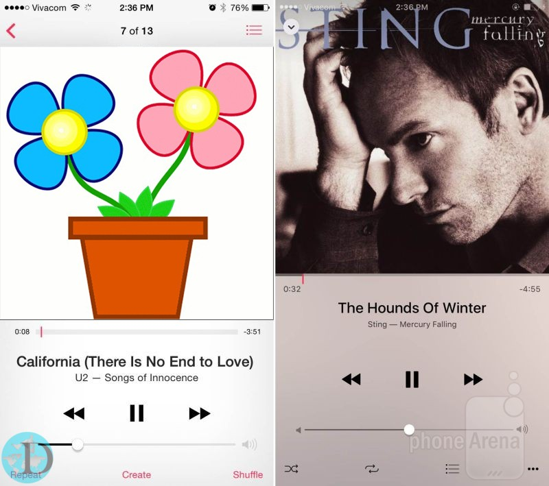 Music app tweaks