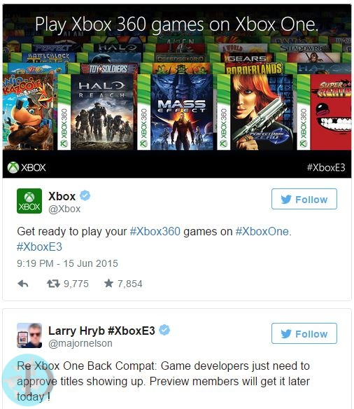 Xbox One will play Xbox 360 games 3