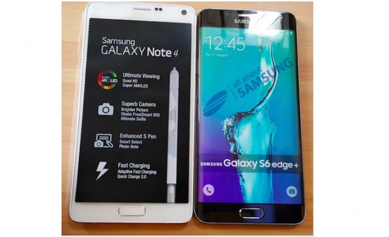 Galaxy S6 edge+ alongside Galaxy Note 4