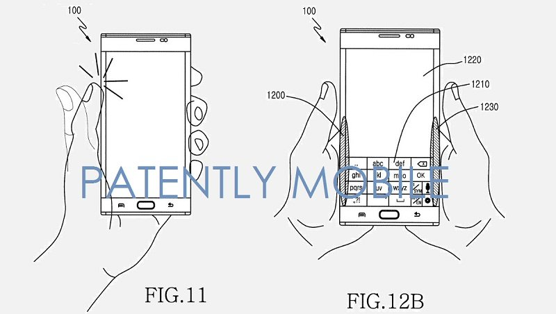 Samsung patent for back touch controls