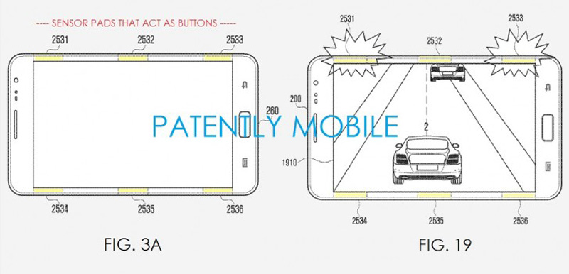 Samsung patents sensor pads to control with edges 01