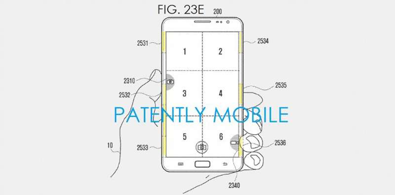 Samsung patents sensor pads to control with edges 03