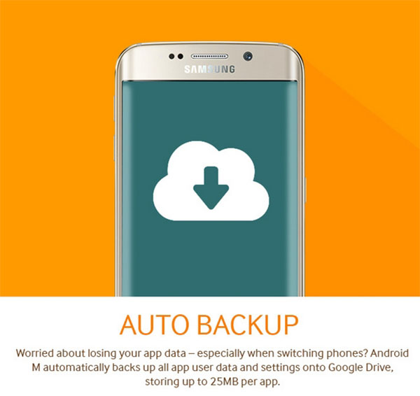 Android M Auto Backup