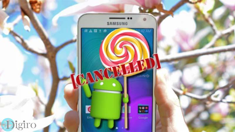 Galaxy E7 Lollipop Cancelled