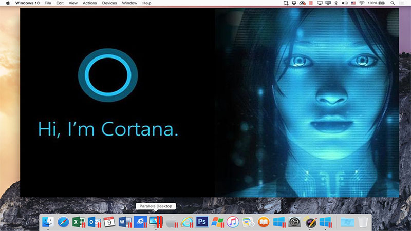 Parallels 11 Cortana