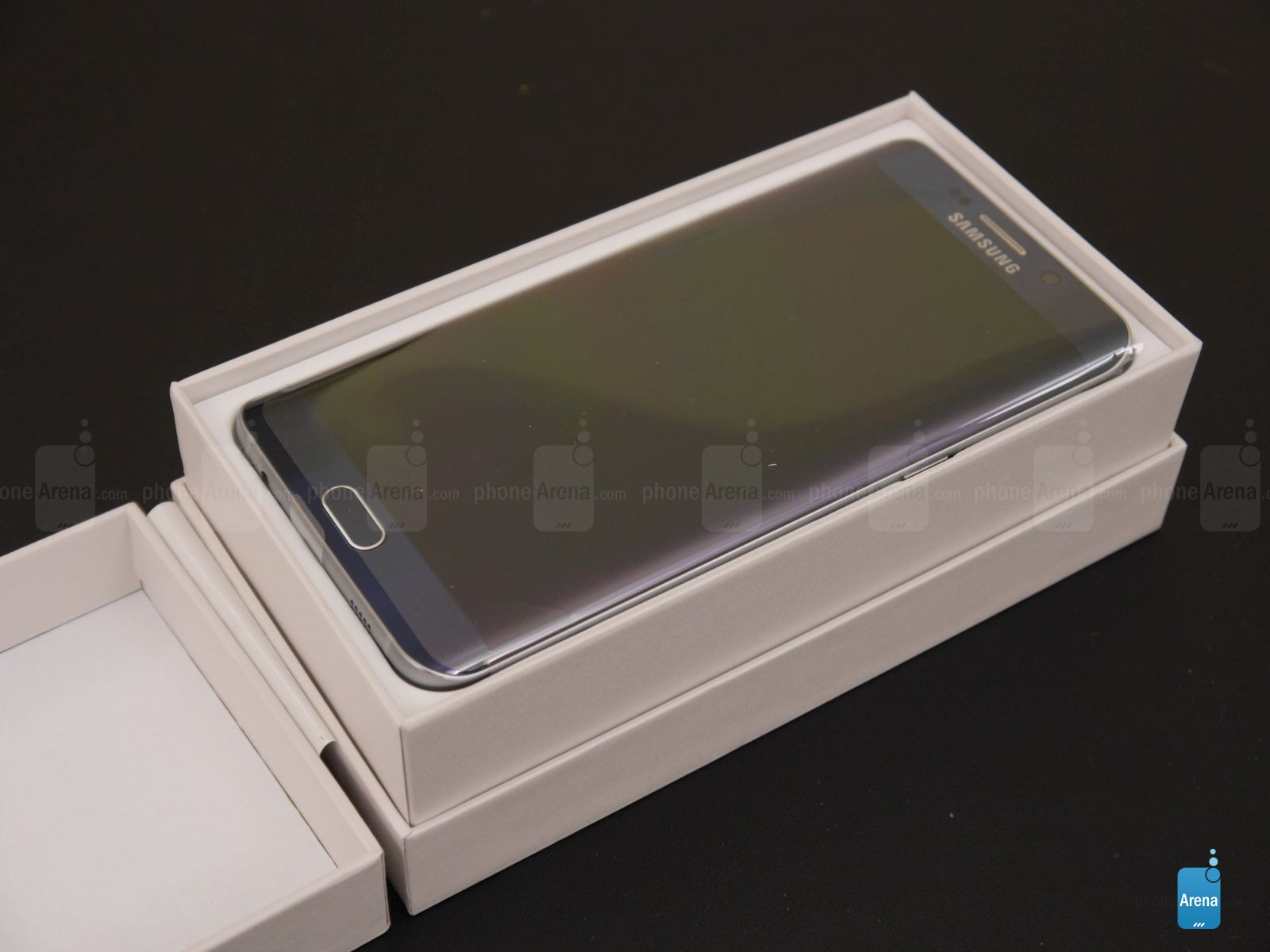 Samsung Galaxy S6 edge unboxing )