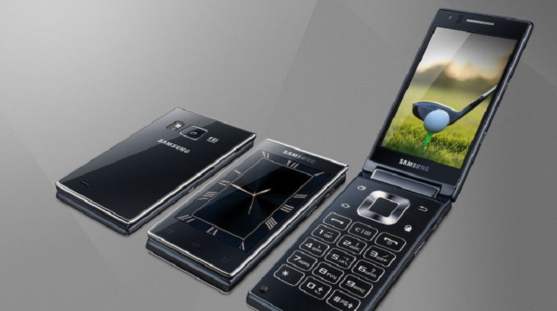 Samsung SM G9198 Android flip phone