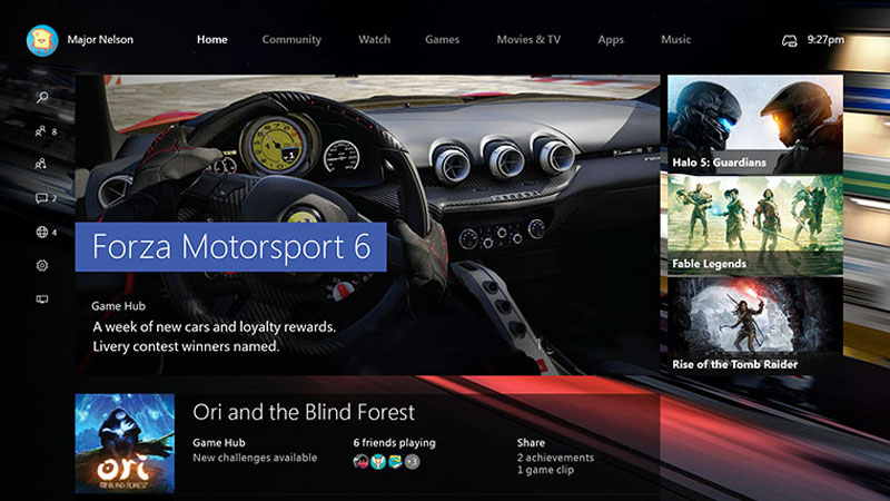 xbox one fall dashboard update