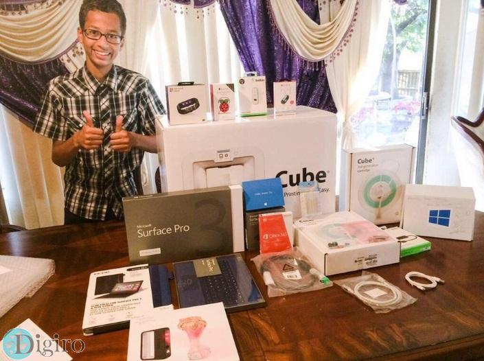نوجوانی که ساعت دیجیتالش با بمب اشتباه گرفته شده بود، از مایکروسافت سرفیس پرو 3 هدیه گرفت