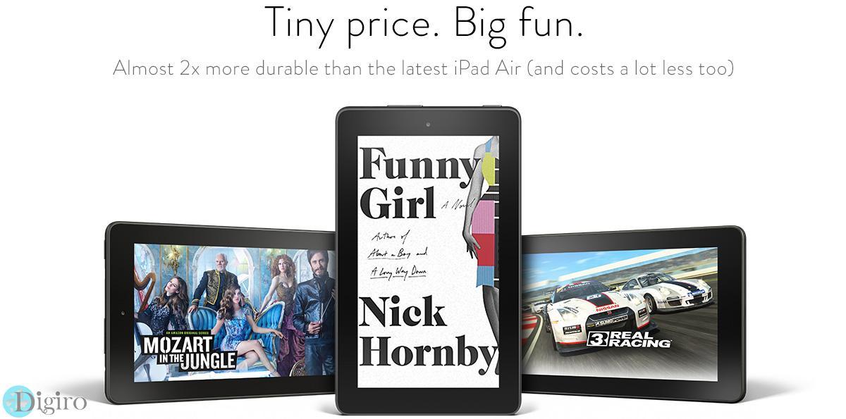 تبلت فوق العاده مقرون به صرفه 7 اینچی آمازون با قیمت 49.99 دلار
