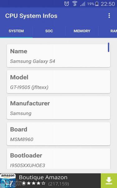 اپلیکیشن اندرویدی CPU Hardware and System Info