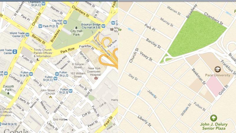 اپل واچ به نقشه گوگل مجهز میشود