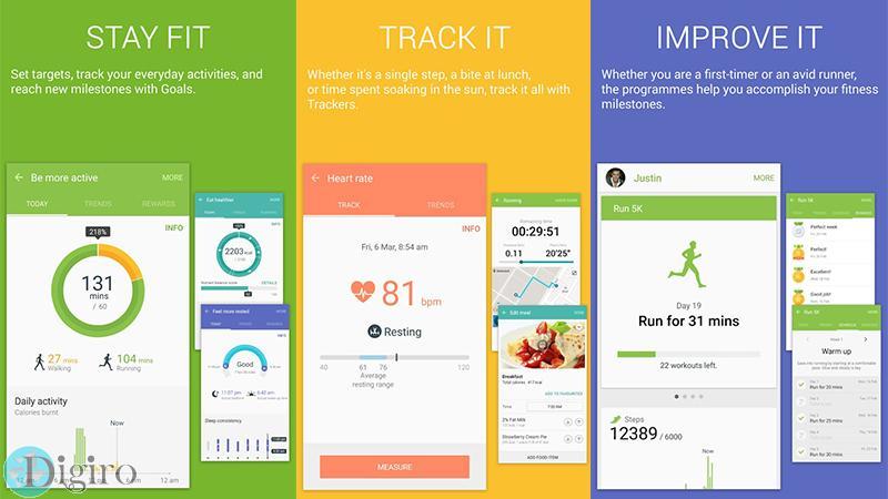 اپلیکیشن سلامتی S Health سامسونگ
