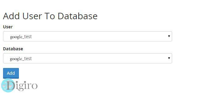 ساخت پایگاه داده در سی پنل
