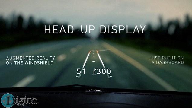information onto windshield