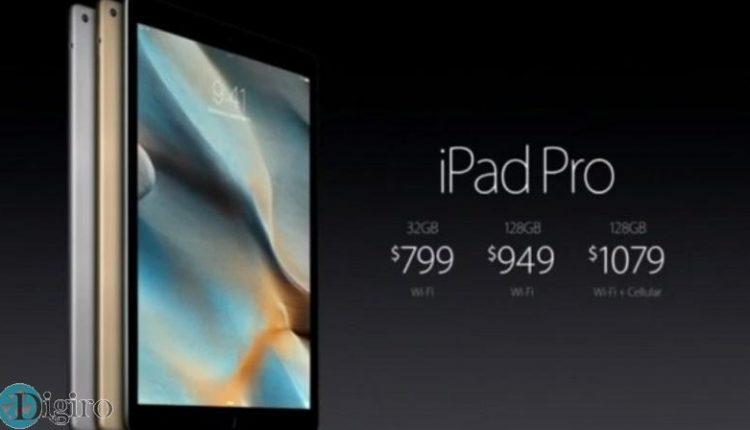 قیمت آیپد پرو اپل