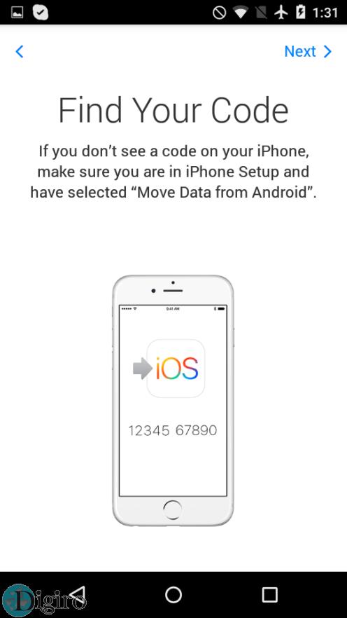 اپلیکیشن 'Move to iOS' اپل برای اندروید