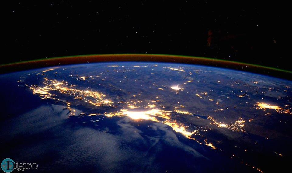 تصویری خیرهکننده از فراز آسمان لس آنجلس