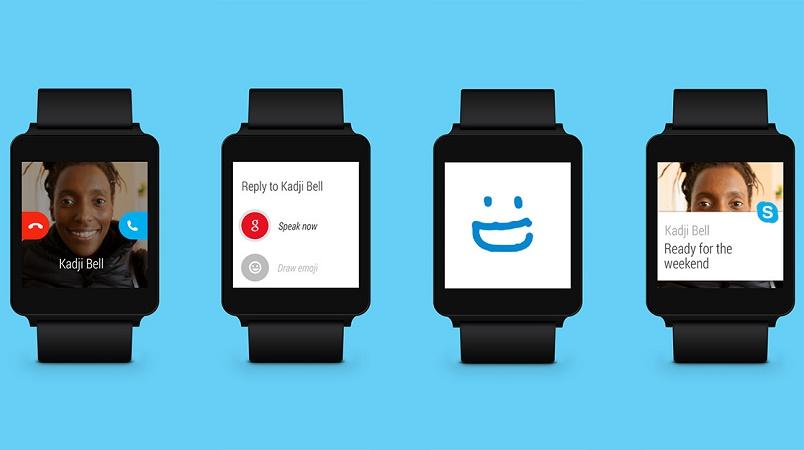اسکایپ با پشتیبانی از اندروید پوشیدنی (Android Wear)