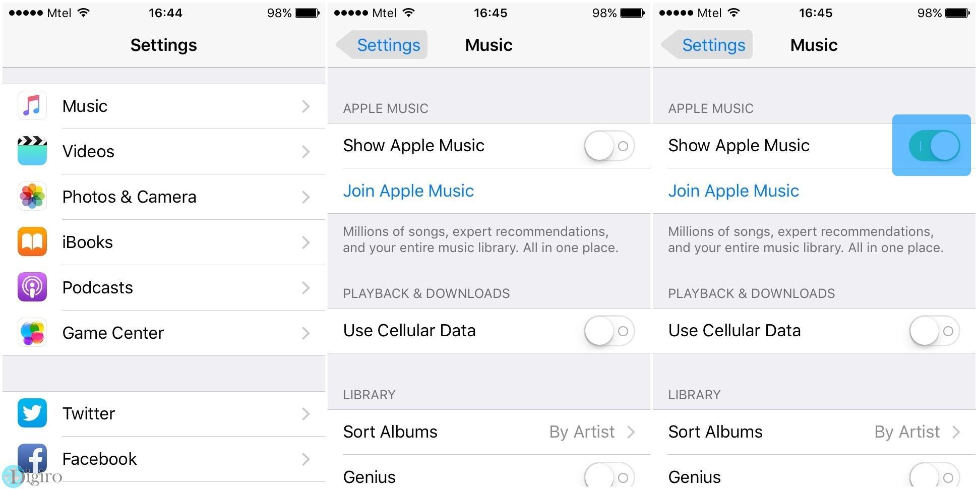 آموزش غیر فعال کردن اپل موزیک