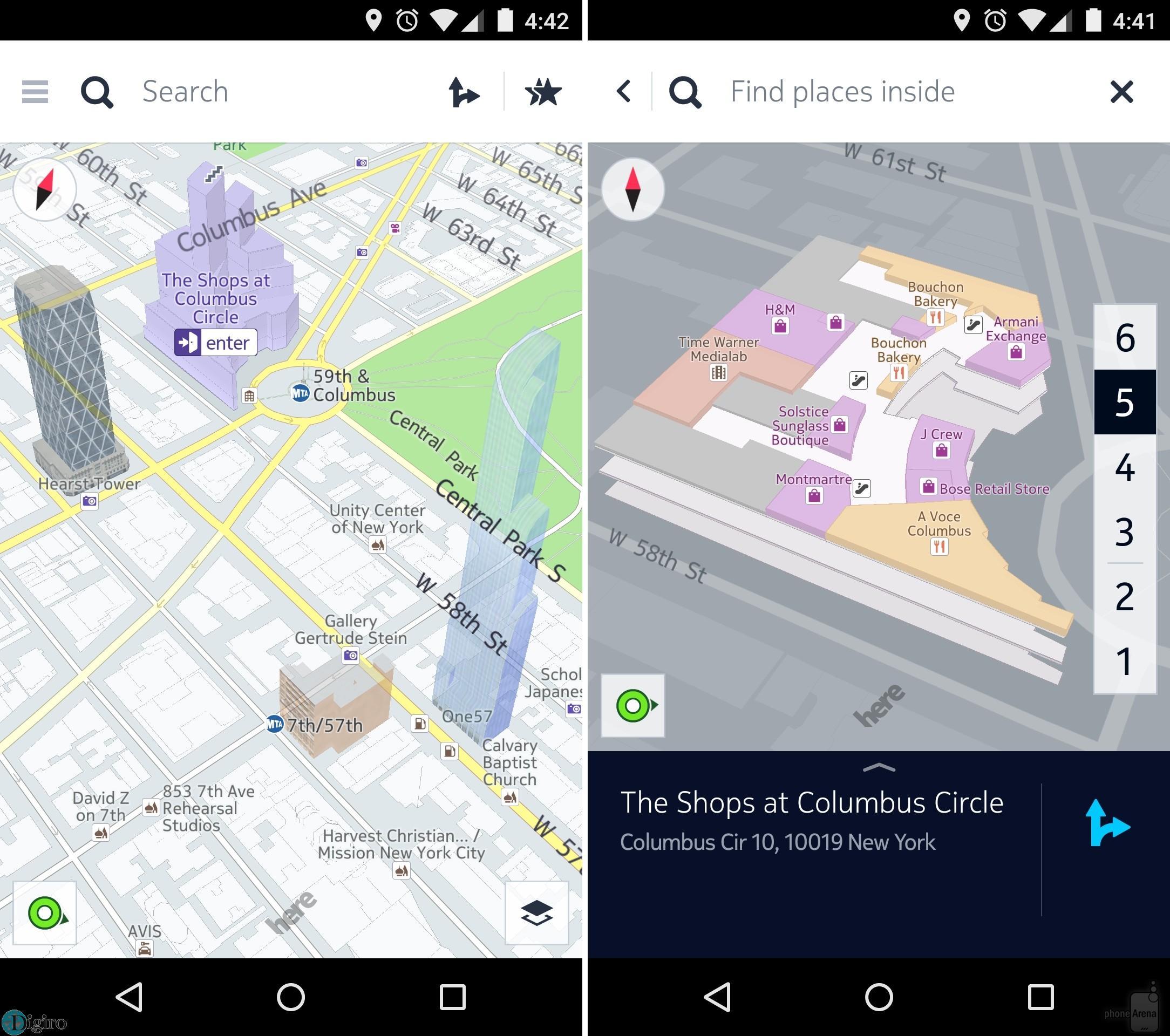 قابلیت های نقشه نوکیا، HERE Maps