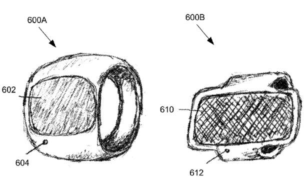 درخواست ثبت اختراع اپل برای یک حلقه