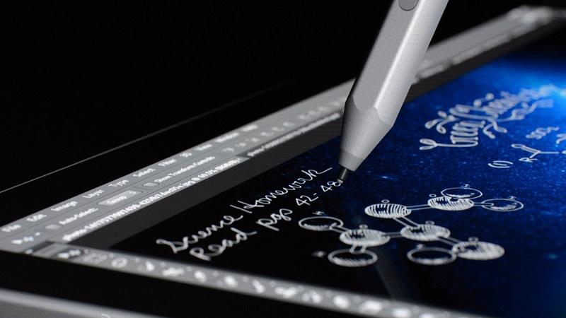 قلم Surface Pro 4 قابلیت تشخیص ۱۰۲۴ زاویه مختلف را دارد