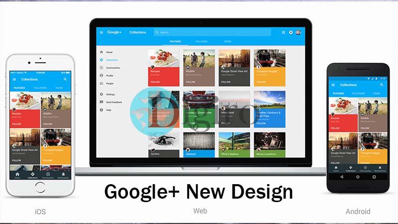 طراحی جدید گوگل پلاس