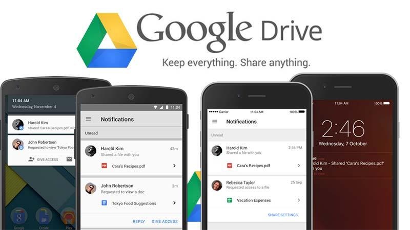 اعلان گوگل درایو