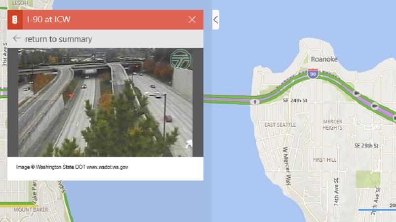 دوربینهای ترافیک ره آورد جدید نقشه مایکروسافت«Bing Maps»