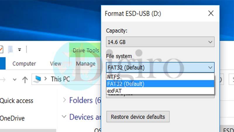 تفاوت فرمتهای NTFS و FAT32