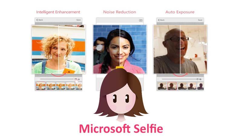 اپلیکیشن عکاسی Microsoft selfie