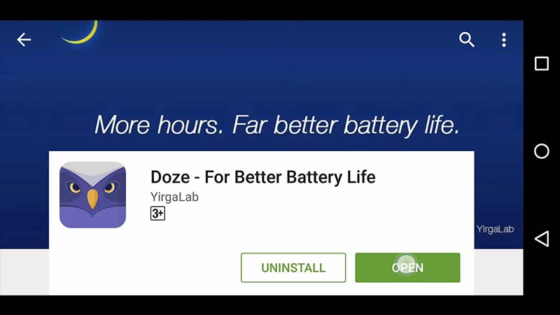 اپلیکیشن Doze