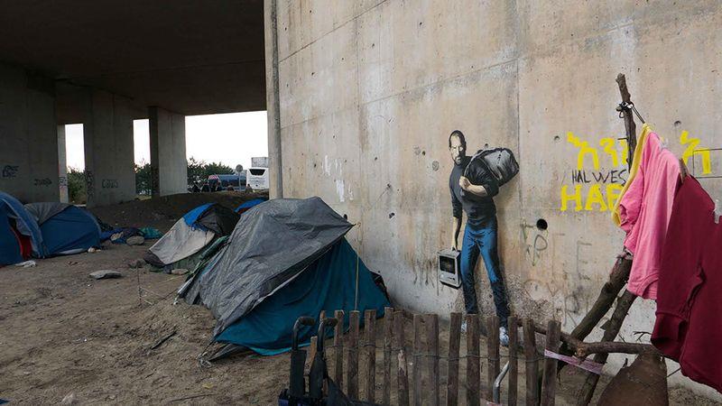 نقاشی فوق العادهای از استیو جابز در دیوار اردوگاه پناهجویان سوری!