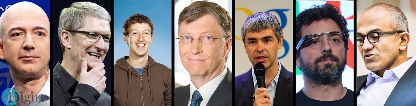 قدرتمندترین افراد دنیای تکنولوژی در سال 2015
