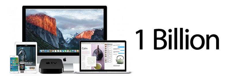 یک میلیارد دستگاه فعال اپل