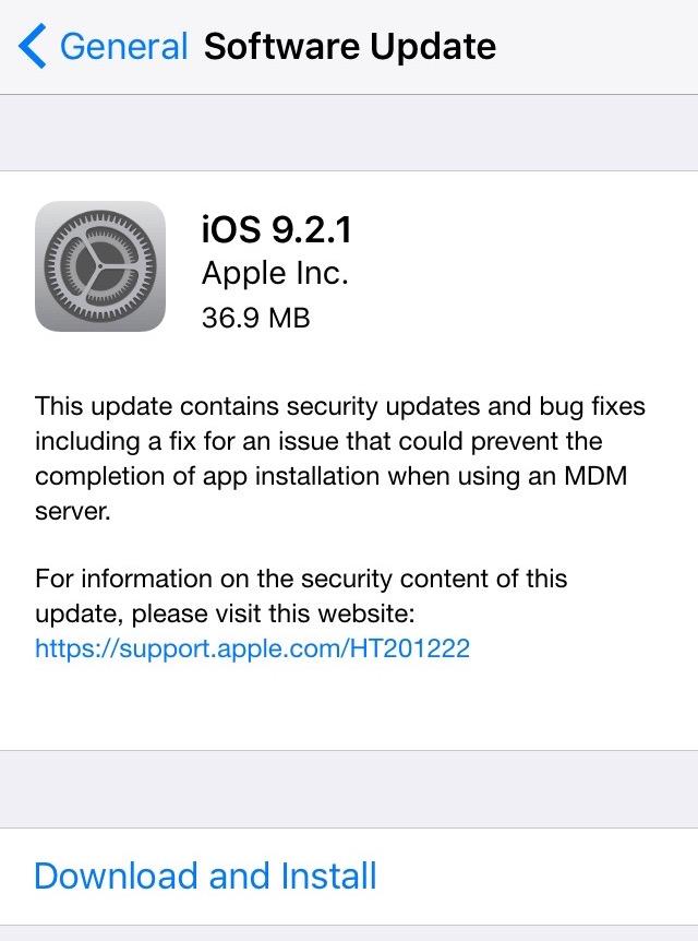 آی او اس 9.2.1
