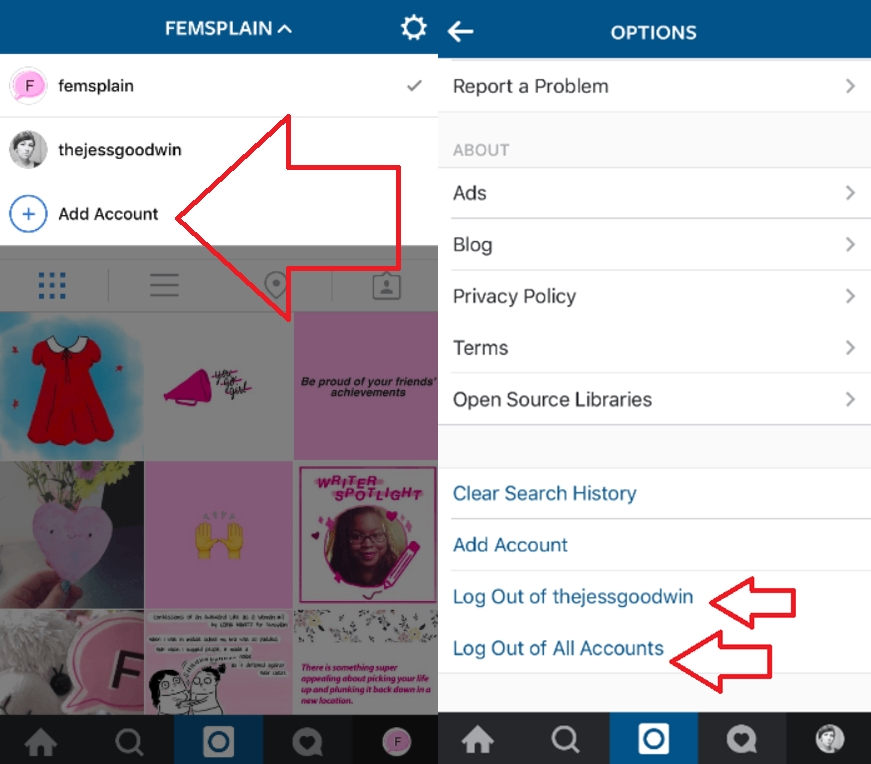 Screenshots-show-multiple-account-support-for-the-iOS-Instagram-app-horz