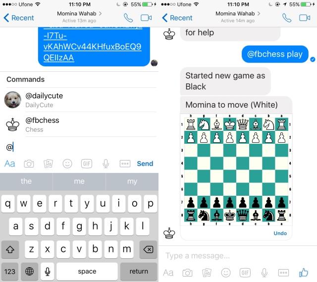 شطرنج مخفی مسنجر فیس بوک