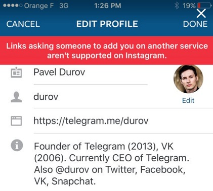 insta block telegram