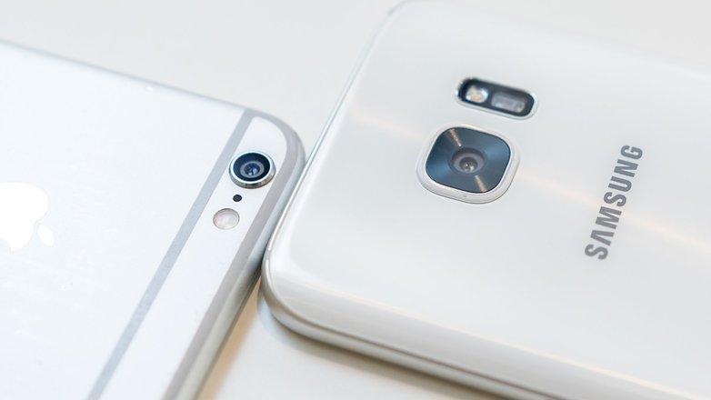 مقایسه دوربین گلکسی اس 7 و آیفون 6 اس