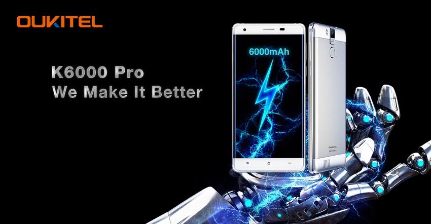 Oukitel K6000 Pro یک گوشی با باتری بزرگ