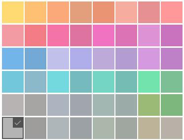 انتخاب رنگ پس زمینه