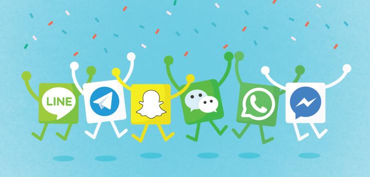 تقابل اپلیکیشن های پیام رسان و شبکه های اجتماعی