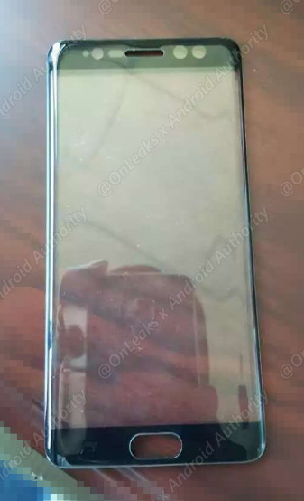 پنل جلویی Galaxy Note 7 سامسونگ