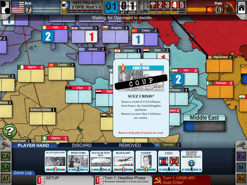 بازی Twilight Struggle Mobile