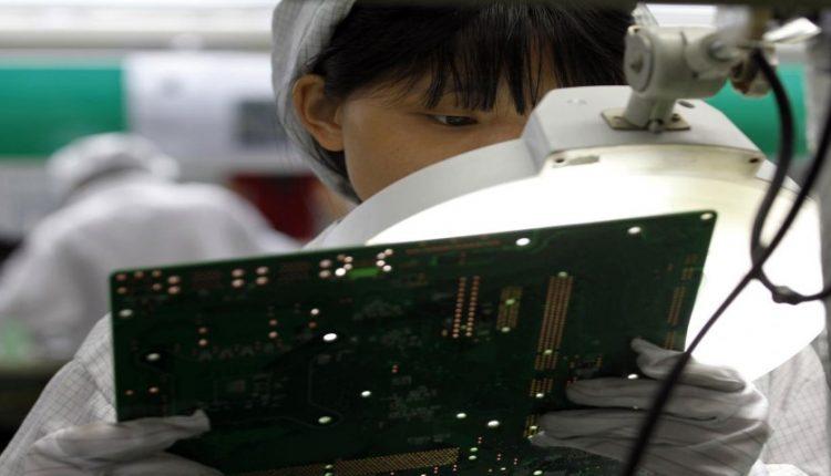 خط تولید اپل د رچین