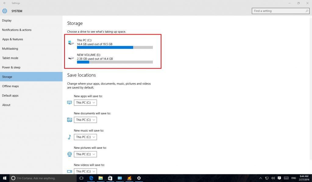افزایش فضای هارد دیسک