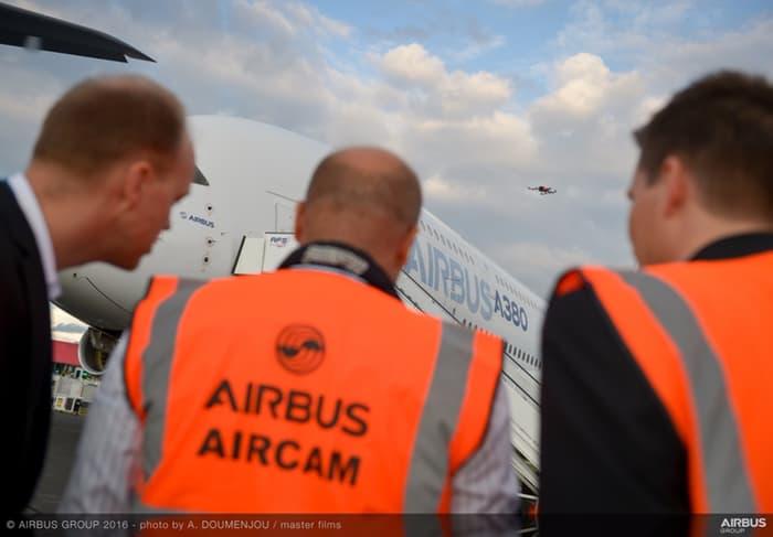 ایرباس برای سرعت بخشیدن به بازرسی هواپیماهایش از پهباد استفاده میکند