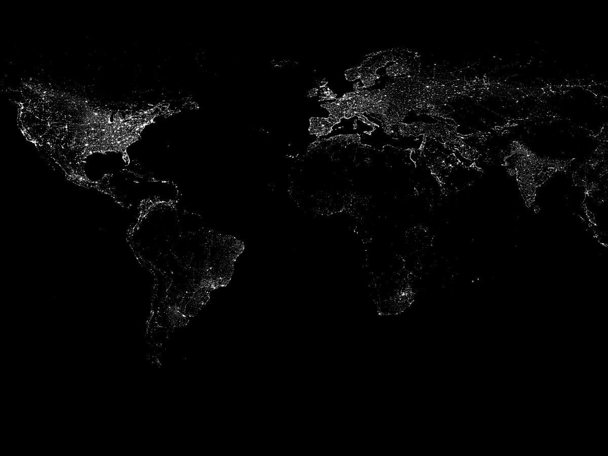 روشنایی زمین از فضا
